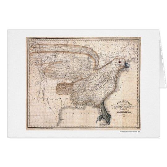 Eagle United States Map 1832 Card
