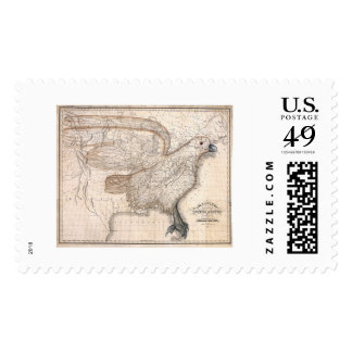 Eagle United States Map 1832 Postage