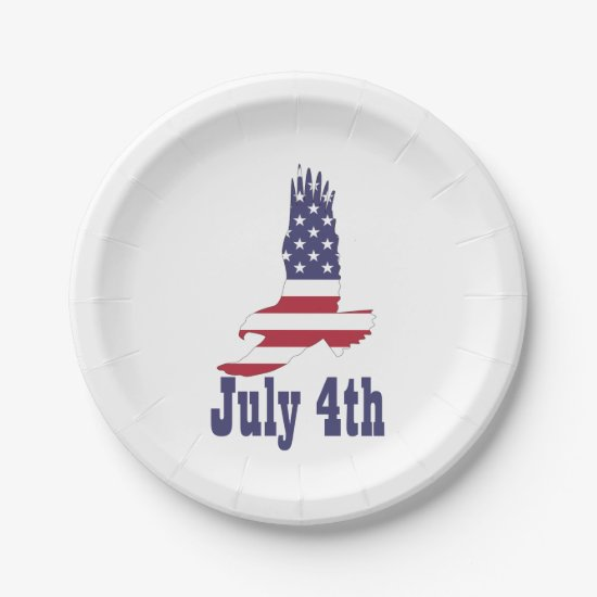 Eagle, USA Flag, July 4th Paper Plates