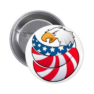 Eagle USA flag power American Button