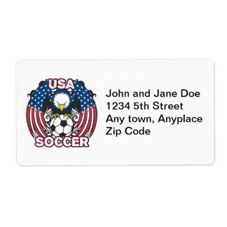 Eagle USA Soccer Label
