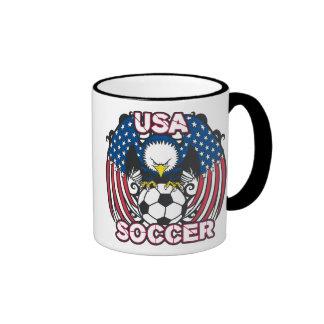 Eagle USA Soccer Ringer Coffee Mug