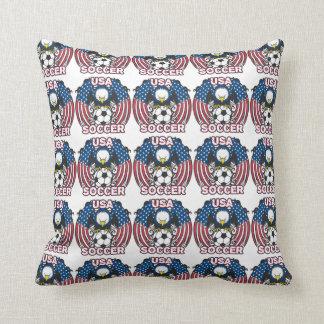 Eagle USA Soccer Throw Pillow