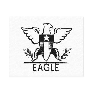 Eagle Vintage jagged animal drawing.png Canvas Print