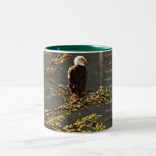 Eagle Vision Inspirational poem mug