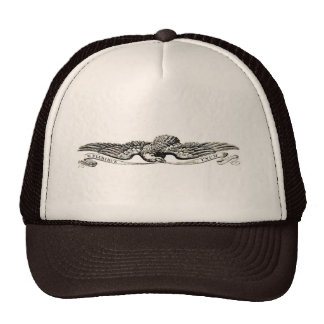 Eagle w/banner trucker hat