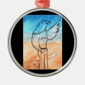 Eagle Warrior Metal Ornament