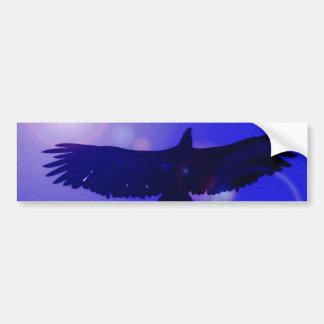 Eagle Wings Car Bumper Sticker