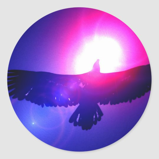 Eagle Wings - Eagle in Flight Classic Round Sticker