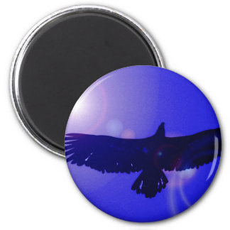 Eagle Wings 2 Inch Round Magnet