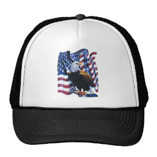 Eagle with American flag Trucker Hat