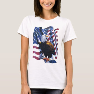 Eagle with American flag T-Shirt