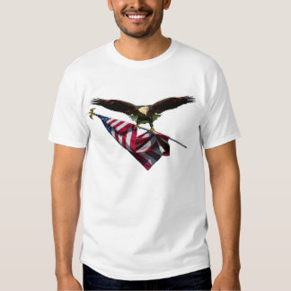 Eagle with American Flag Tee Shirt