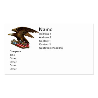 Eagle with Arrows on Shield Business Card
