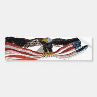 Eagle with flag bumper sticker