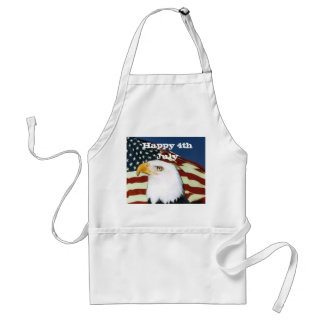 Eagle with flag, Happy 4th July Adult Apron