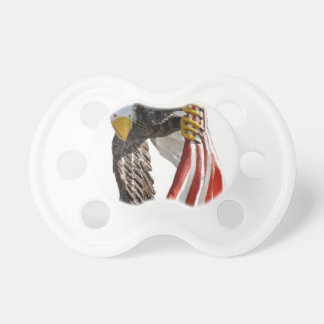 Eagle with flag baby pacifiers