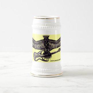 Eagle with guitar cool beer mug