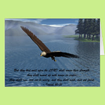Eagle with Scripture Card