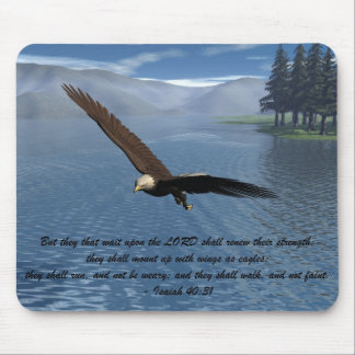 Eagle with Scripture Mouse Pad