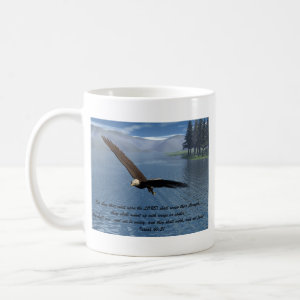 Eagle with Scripture mug