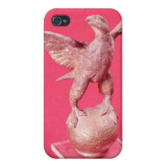 Eagle with spread wings on a ball case for iPhone 4