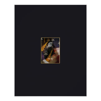 Eagle with tassel poster