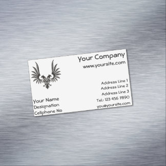 Eagle with two heads business card magnet