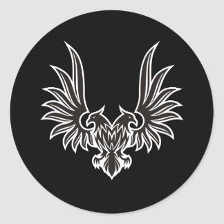Eagle with two heads classic round sticker