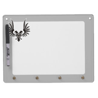 Eagle with two heads dry erase board with keychain holder