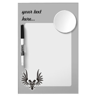 Eagle with two heads dry erase board with mirror