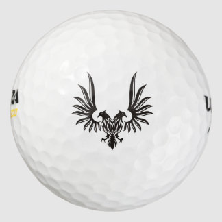 Eagle with two heads golf balls