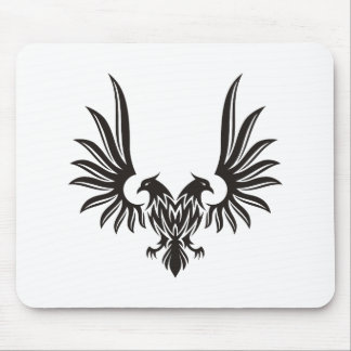 Eagle with two heads mouse pad