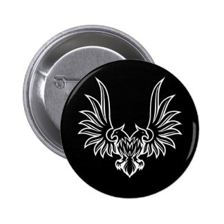 Eagle with two heads pinback button