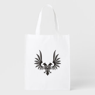 Eagle with two heads reusable grocery bag