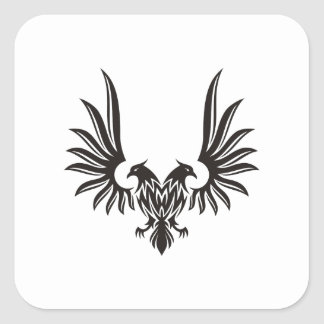 Eagle with two heads square sticker