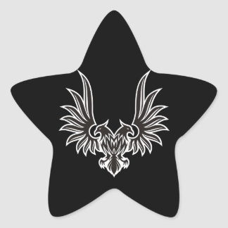 Eagle with two heads star sticker