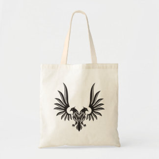 Eagle with two heads tote bag