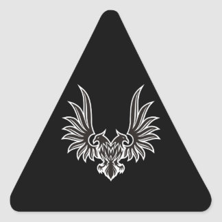 Eagle with two heads triangle sticker