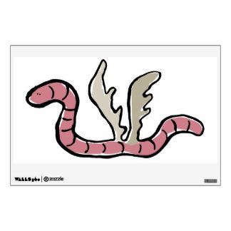 eagle worm wall decal