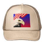 Eagle y bandera gorro de camionero