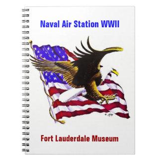 Eagle y bandera libro de apuntes