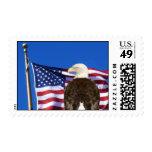 Eagle y bandera sello