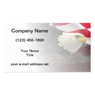 Eagle y bandera tarjetas de visita