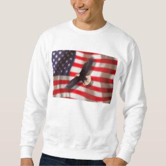 Eagle y camiseta de la bandera americana pulovers sudaderas