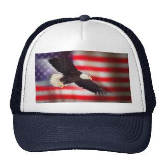 Eagle y casquillo de la bandera americana gorro
