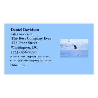 Eagle y el volar de las gaviotas plantilla de tarjeta personal