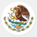 Eagle y emblema de México de la serpiente para los Etiqueta