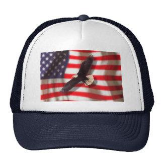 Eagle y gorra de la bandera americana