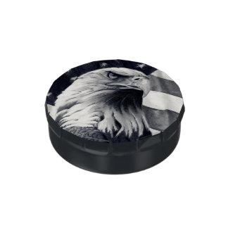 Eagle y lata del caramelo de la bandera/tarro jarrones de caramelos